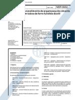 NBR 8682 - Revestimento de Argamassa de Cimento Em Tubos de Ferro Fundido Ductil