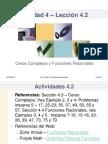Leccion 4-2 Ceros Complejos y Funciones Racionales