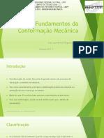 2 - Fundamentos Da Conformação Mecânica