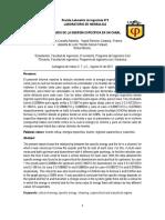 Informe 2 de Hidráulica. Energía Específica