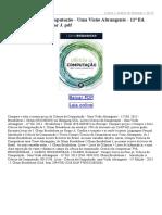Ciência Da Computação Uma Visão Abrangente 11ª Ed 2013