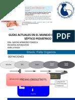 Guías Actuales en El Manejo de Choque Séptico Pediátrico Dra. Naysin Arribeño Fonseca