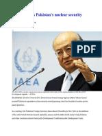 IAEA Praises Pakistan