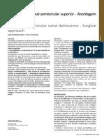 Deiscência do canal semicircular superior - Abordagem cirúrgica