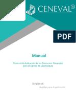 Manual. Proceso de Aplicación de los Exámenes Generales para el Egreso de Licenciatura