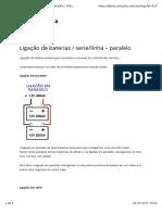 Ligação de Baterias-serie-linha – Paralelo