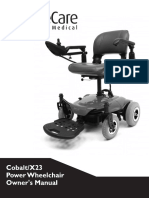 Cobalt x 23 Power Wheelchair User Manual