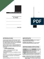 Manual Del Usuario en Español ICOM ICR20