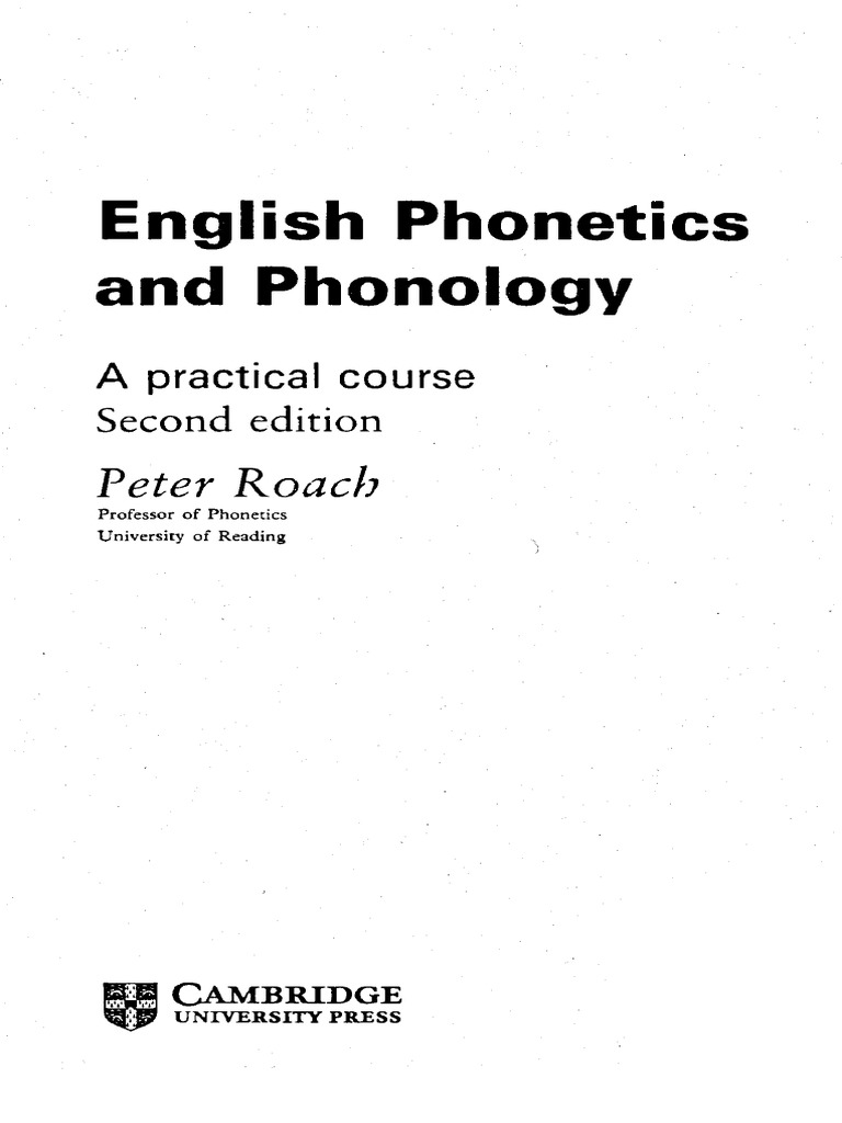 English phonetics and phonology: a practical course: amazon. Co. Uk.