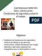 NORMA Oficial Mexicana NOM-031-STPS-2011%2c Construcción-Condiciones de Seguridad
