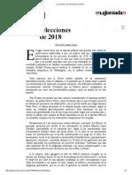 La Jornada_ Las Elecciones de 2018