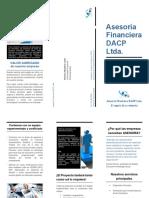 Folleto - Asesoria Financiera DACP