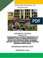 Expediente Tecnico de Alpacas Marangani (Reparado)