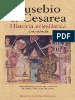 HISTORIA ECLESIÁSTICA, por EUSEBIO DE CESAREA. LIBROS DE LA BIBLIOTECA PRIVADA DEL CÓNSUL DE ROMA