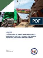 La obligación de consultar a la comunidad Cantagallo sobre el Proyecto Habitacional