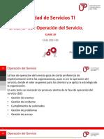 Operacion Servicio DE TI