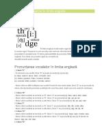 Reguli de Pronunție În Limba Engleză