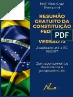 Constituição Federal Resumida - Vítor Cruz - 2017 - Atualizado