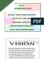 Plan Operativo Anual Nora Flores 2015