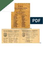 Boletas Elecciones Argentina 1931 a 2015