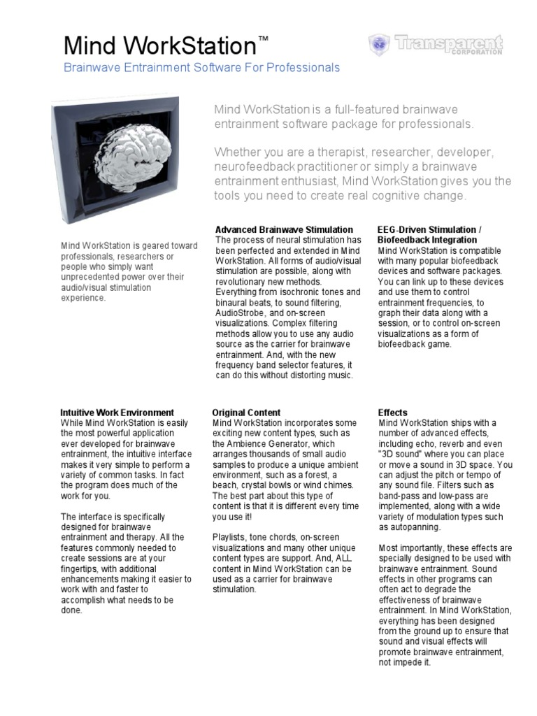 Mind Data Sheet   Electroencephalography   Mp3