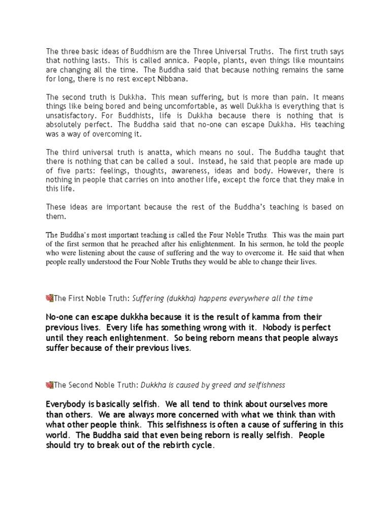 basic of buddhism | four noble truths | dukkha