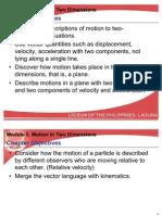 Projectile, Uniform Circular Motion, Relative Velocity