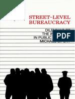 Street-Level Bureaucracy Dilemma-Michael Lipsky