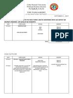 Liquidation Format