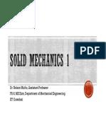 Solid Mechanics ME 212 - Week 5