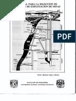 Manual Para La Selección de Métodos de Explotación de Minas