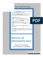 Manual de Ortografia Nicaraguense