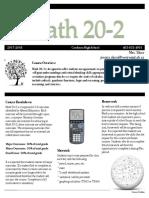 math 20-2 course outline