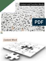 Understanding Function and Content Words