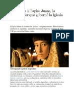 El Mito de La Papisa Juana