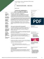 PNUD. (2015). Construcción de Ciudadanía e Incidencia en Políticas Públicas
