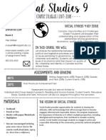 social studies 9 syllabus