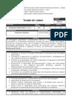 Redação Publicitária I - Plano de Curso 2009.2