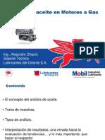 Análisis de aceites para motores a gas