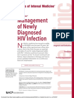 Management of Newly Diagnosed HIV Infection