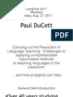 LangFest 2017 Presentation 2