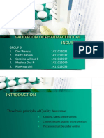 2. Validation of Pharmaceutical Industry