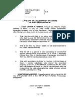 Adjudication Affidavit