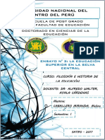 ENSAYO 03. La Educación Superior en La Selva Central