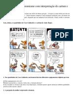 Atividade sobre consumismo com interpretação de cartum e quadrinhos.docx