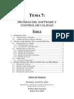 PRUEBAS DEL SOFTWARE Y CONTROL DE CALIDAD