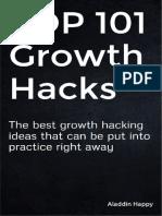 TOP 101 Growth Hacks - By Aladdin Happy