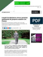 1.- Comité de Ministros Revoca Permiso Ambiental de Proyecto Minero Los Pumas _ Negocios _ LA TERCERA