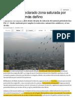 10.- Santiago Zona Saturada Mp 2,5