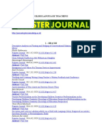 120 Articles of English Language Teaching